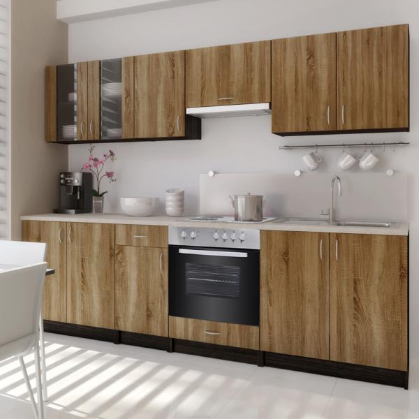 Einbauküche mit Backofen & Kochfeld 260 cm