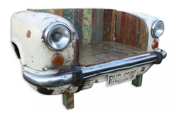 Taxi Sitzbank altes Auto Front