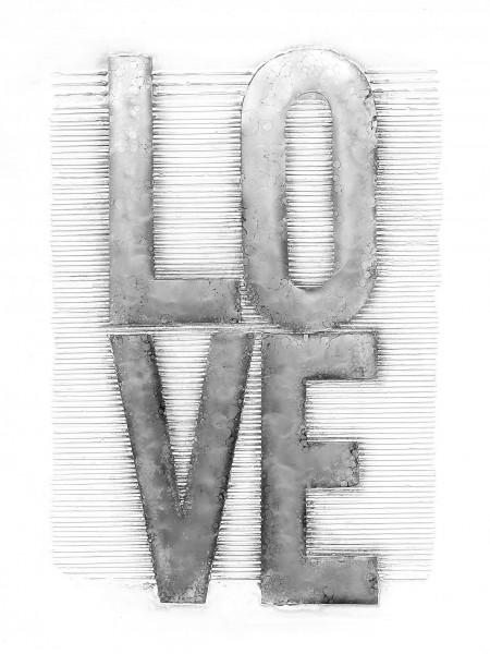 Aluminium Wandbild Liebe 80cm x 100cm