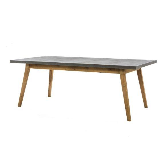 Esstisch Betonoptik beton optik esstisch silas tannenholz 200 cm moebeldeal com