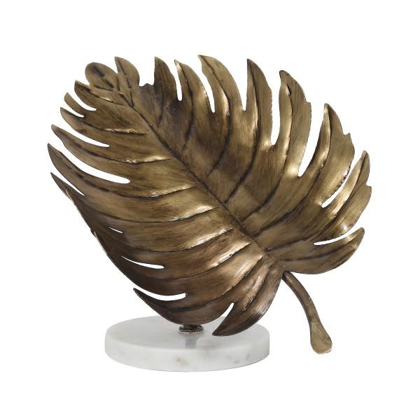 Skulptur Ajay 987 Gold / Weiß