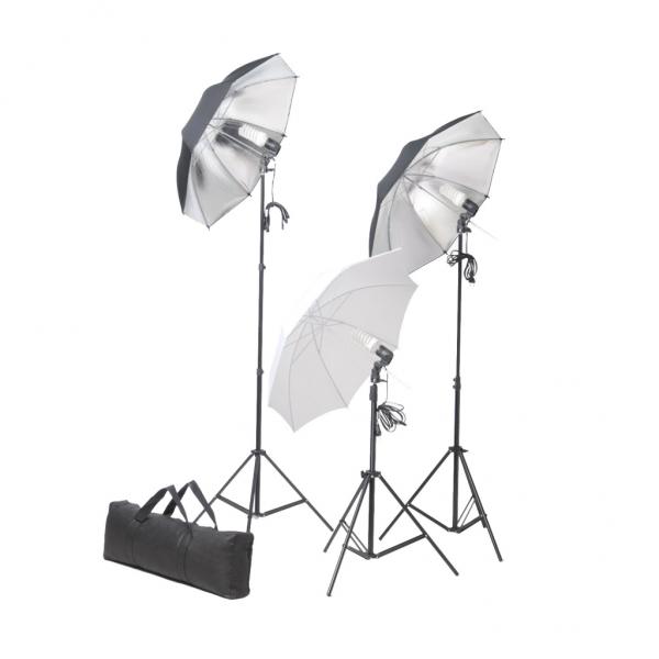 Studiolampenset 36 Watt mit Stativen und Schirmen