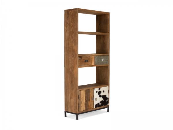Shabby Bücherregal aus Massivholz