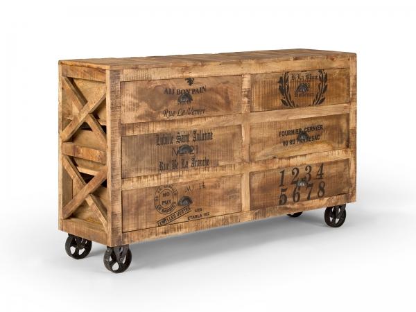 Industrial Möbel Sideboard aus Massivholz