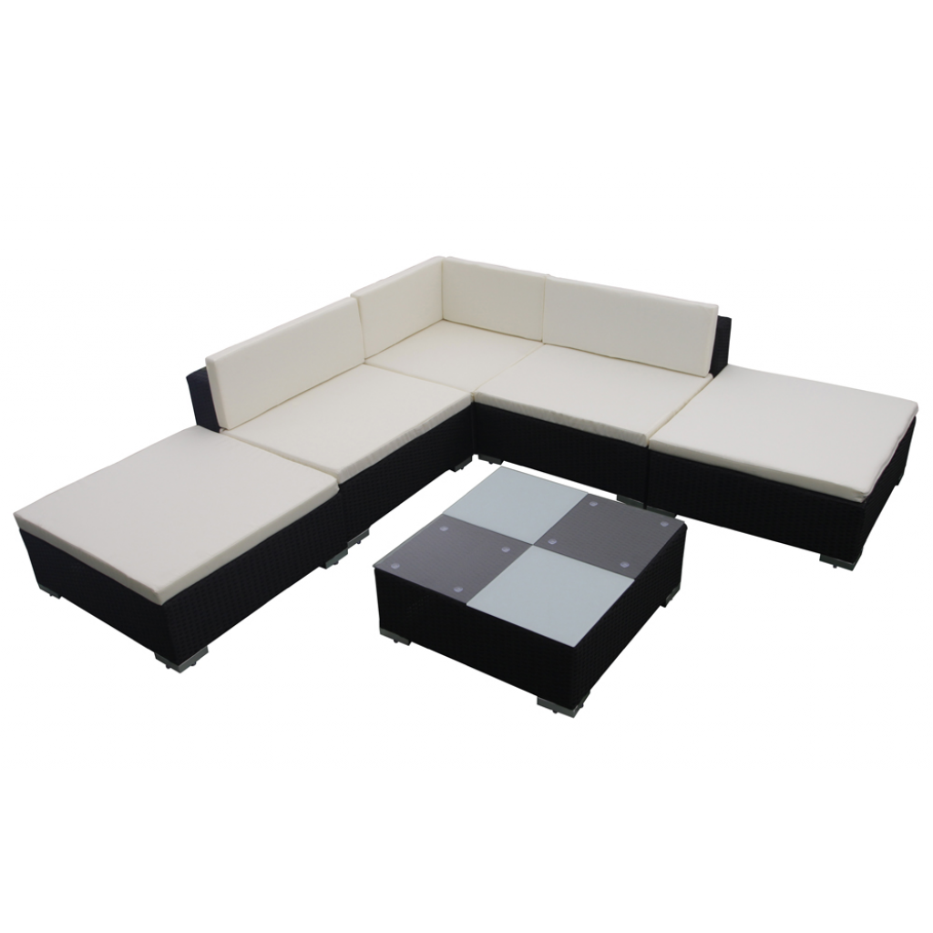 gartenm bel rattan lounge set garten. Black Bedroom Furniture Sets. Home Design Ideas