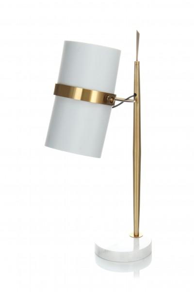 Tischlampe Novum 210 Weiß / Gold