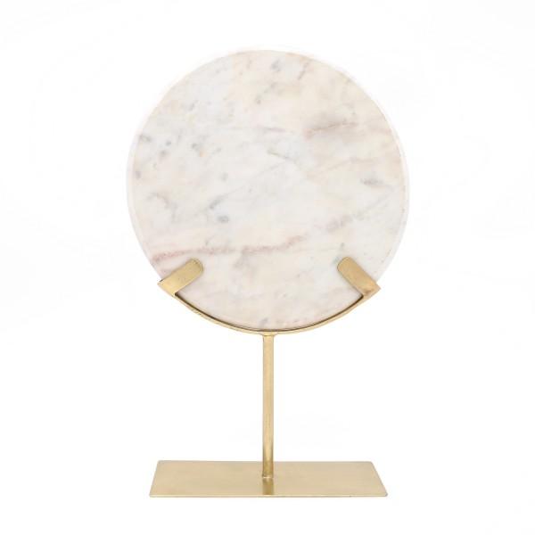 Skulptur Ajnur 1087 Gold / Weiß
