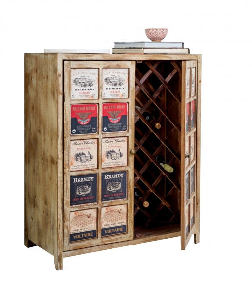 Weinschrank Kommode im Used Look