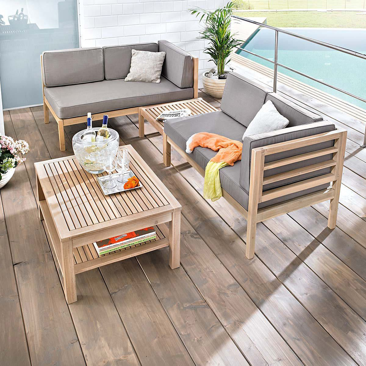 gartenm bel set holz 3 tlg. Black Bedroom Furniture Sets. Home Design Ideas