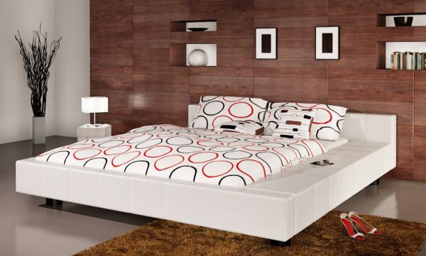 Kunstleder Bett 180 x 200 cm weiß