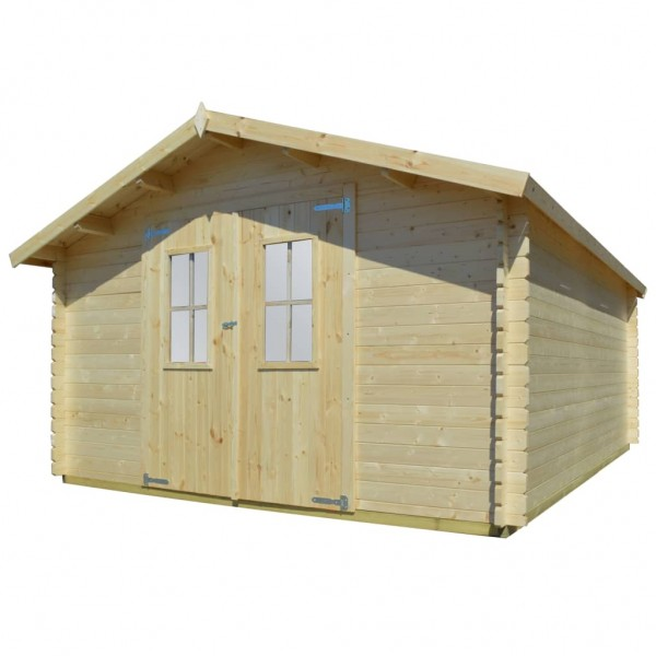 Gartenhaus Blockhaus Massivholz 4x4m