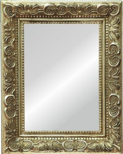 Bilderrahmen Rahmen Barock Silber Optik aus Holz