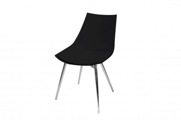 Stuhl Dakota 110 4er-Set Schwarz / Chrom