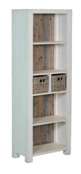 Bücherschrank Massivholz im Landhausstil Shabby