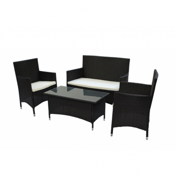 rattan gartenm bel set schwarz m bel garten. Black Bedroom Furniture Sets. Home Design Ideas