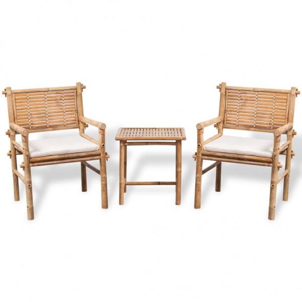 Bistro-Set mit Beistelltisch und Sitzkissen