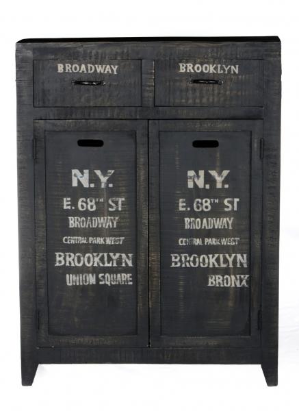 Vintage Kommode Massivholz / Mangoholz Brooklyn