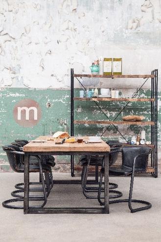 industrial chic esstisch massivholz versandkostenfreie m bel online bestellen. Black Bedroom Furniture Sets. Home Design Ideas