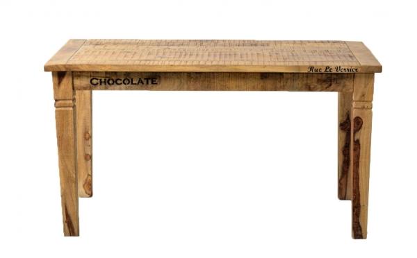 Massivholz Esstisch mit Print