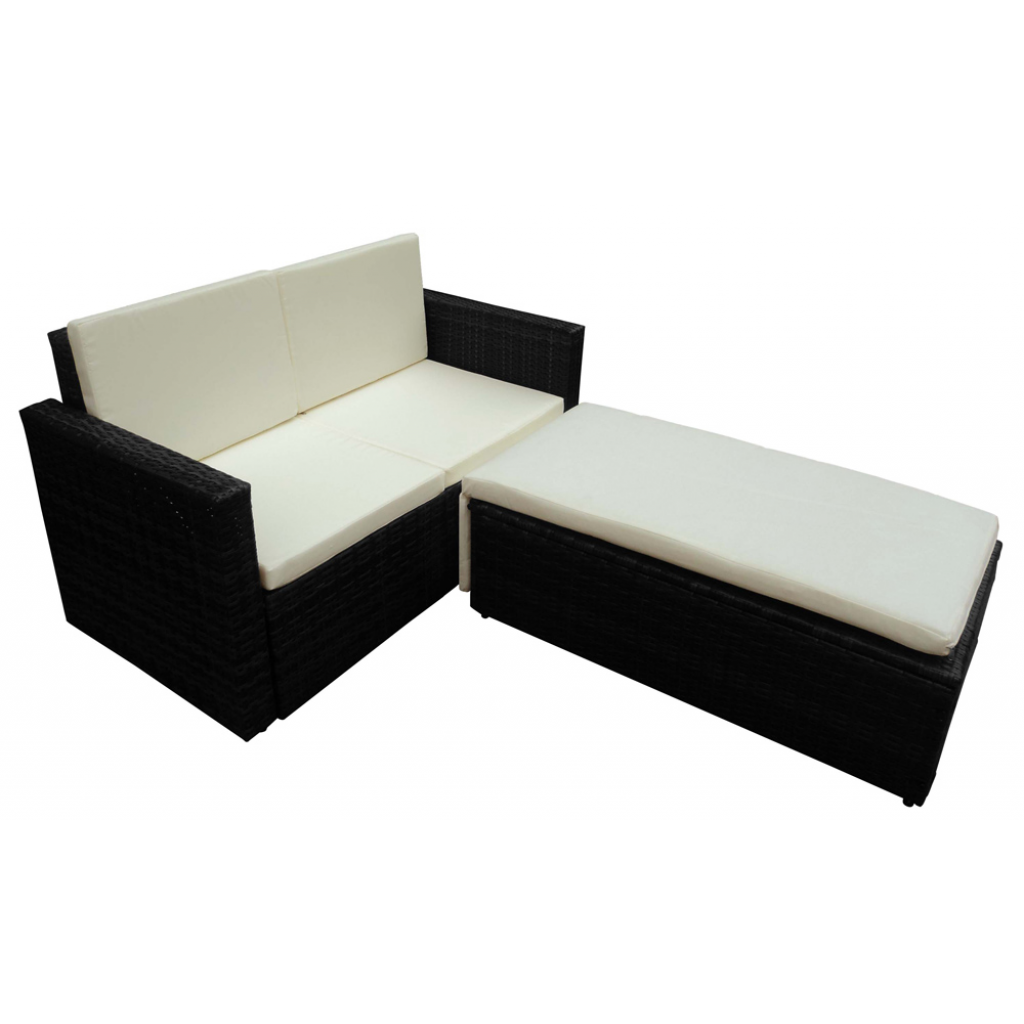 rattan m bel schwarz variabel m bel garten. Black Bedroom Furniture Sets. Home Design Ideas