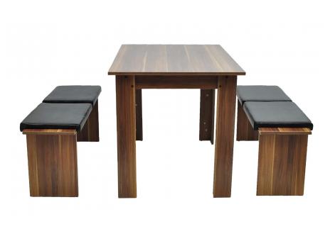 2x Sitzbank mit Tisch