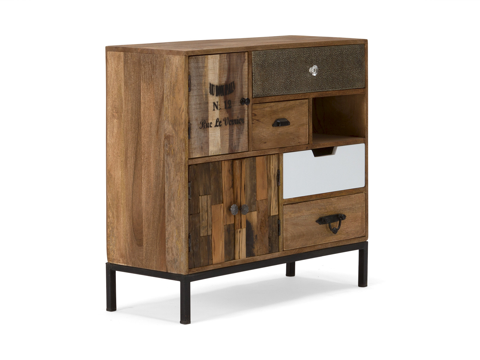 massivholz kommode mit schubladen stilmix versandkostenfreie m bel online. Black Bedroom Furniture Sets. Home Design Ideas