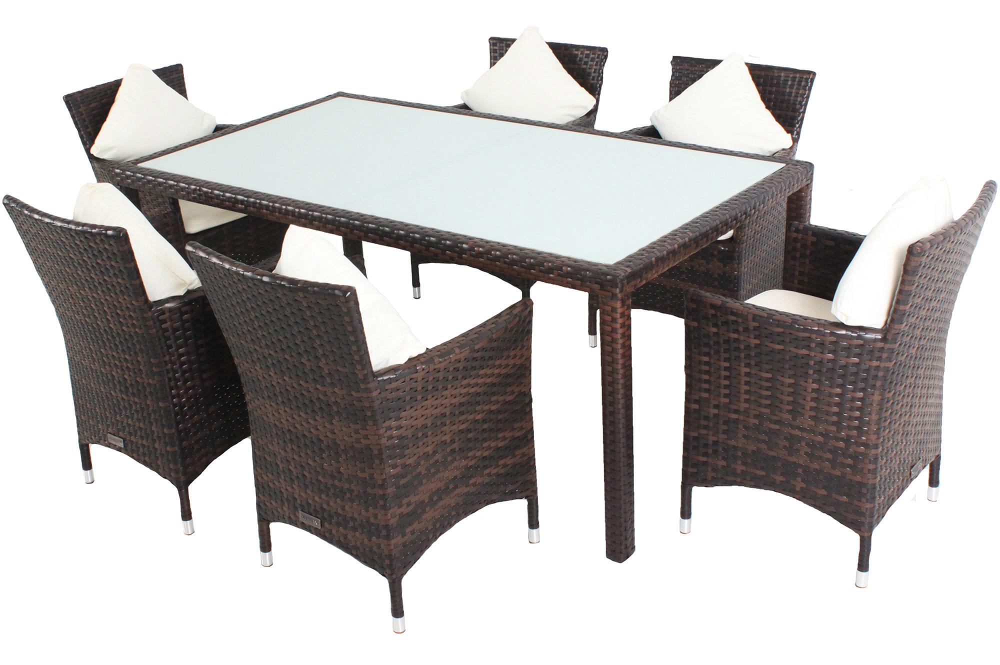 outflexx gartenm belset aus polyrattan. Black Bedroom Furniture Sets. Home Design Ideas