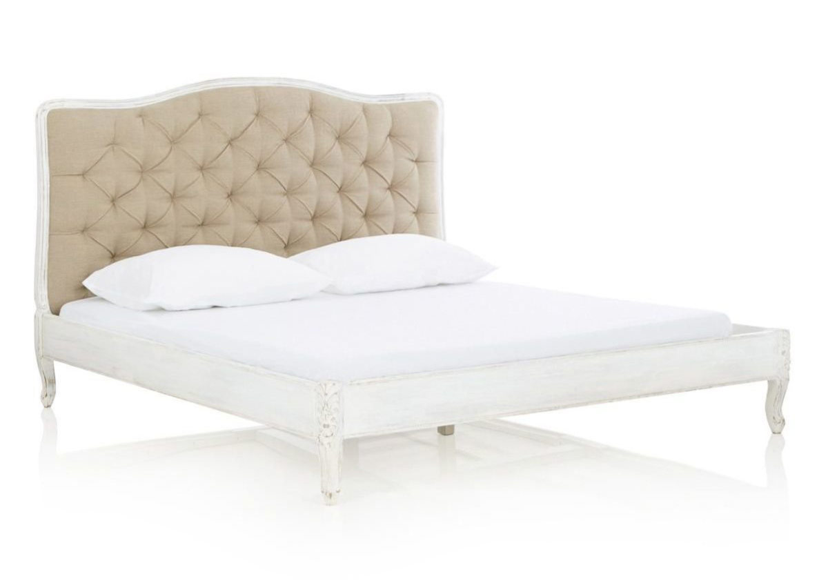 vintage bett barock wei 160 cm versandkostenfreie m bel online bestellen. Black Bedroom Furniture Sets. Home Design Ideas