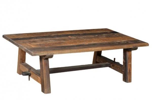 Industrie Möbel Tisch Couchtisch aus Altholz