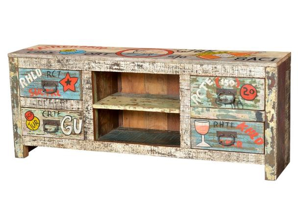 Sideboard Industrial Look ~ Tv sideboard industrial look massivholz tv sideboard highlights