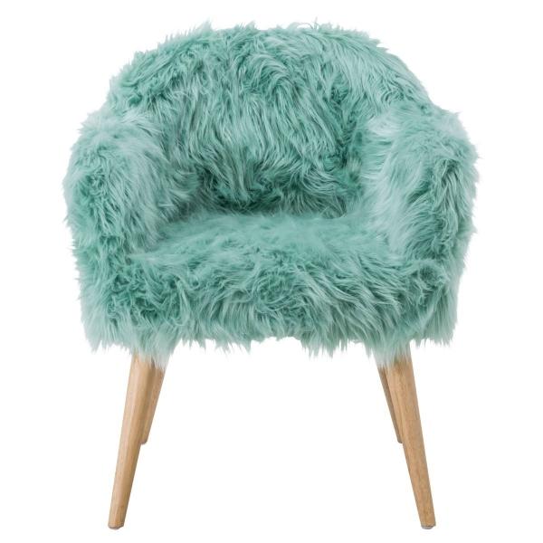 Retro Sessel Kunstfell