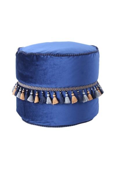 Pouf Taj Mahal 225 Blau