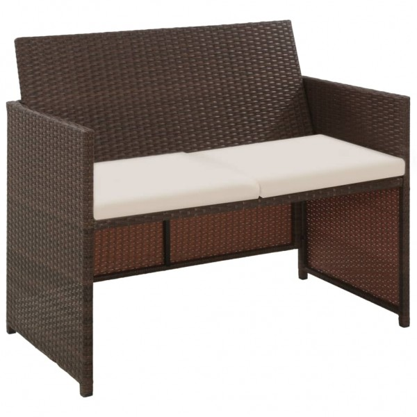 2-Sitzer-Sofa Poly Rattan