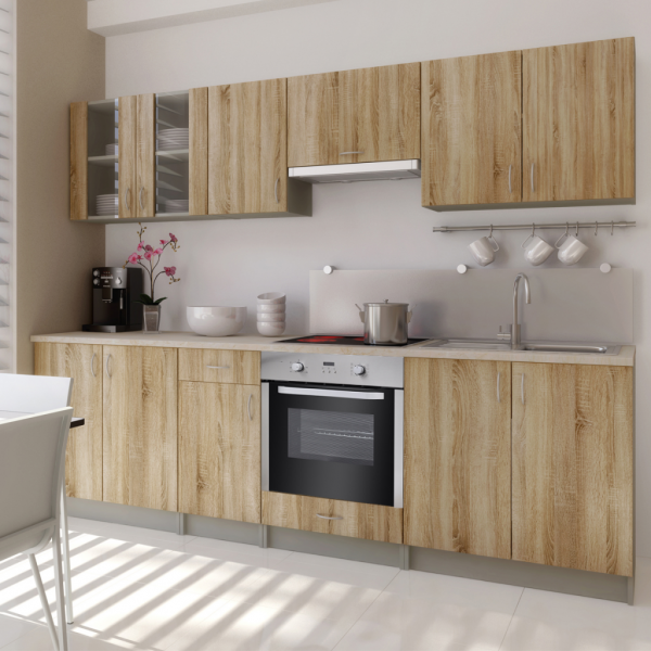 Deluxe Einbauküche mit Backofen Küchenzeile 260 cm