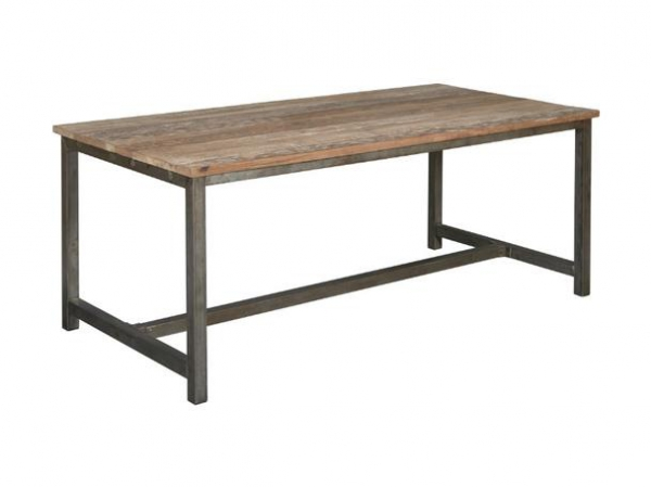 Industrie look esstisch teakholz for Design tisch 140
