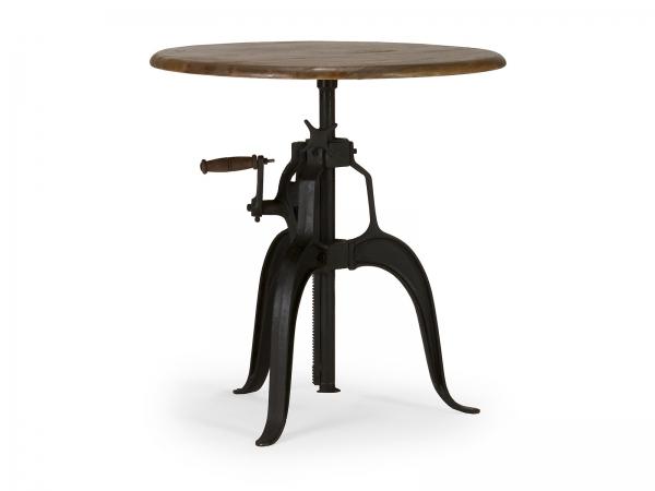 Industrial Möbel Esstisch rund aus Massivholz