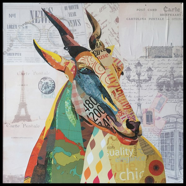 Papier Wandbild Gazelle 72cm x 72cm