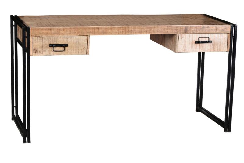 massivholz schreibtisch industrial look mit schubladen versandkostenfreie. Black Bedroom Furniture Sets. Home Design Ideas