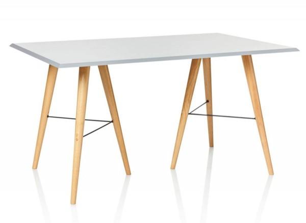 Esstisch Skandinavischer Look weiß 140 cm