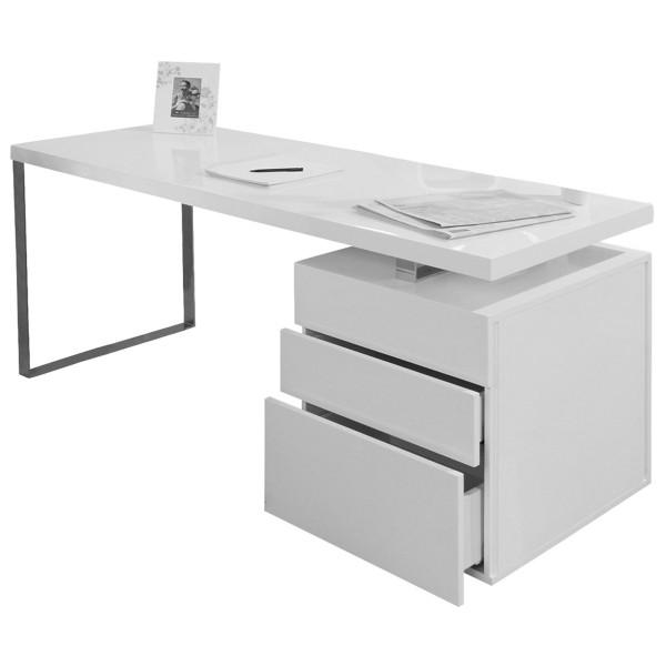 Schreibtisch 140x70x76 cm weiß