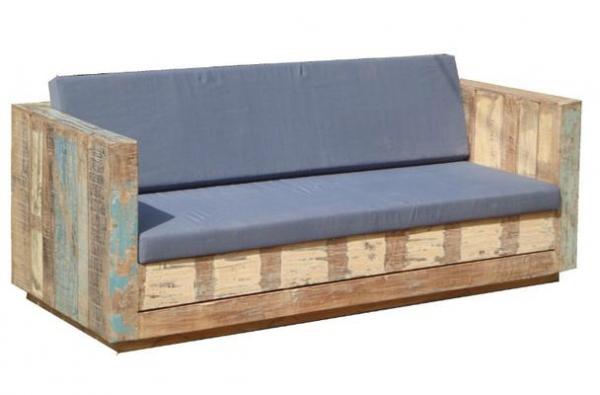 Gartenbank Lounge Garnitur aus Massivholz inkl. Kissen | Möbel ...