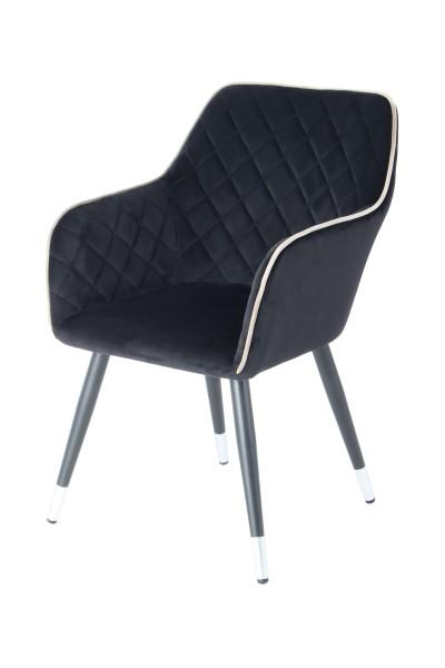Stuhl Amino 625 Schwarz / Grau
