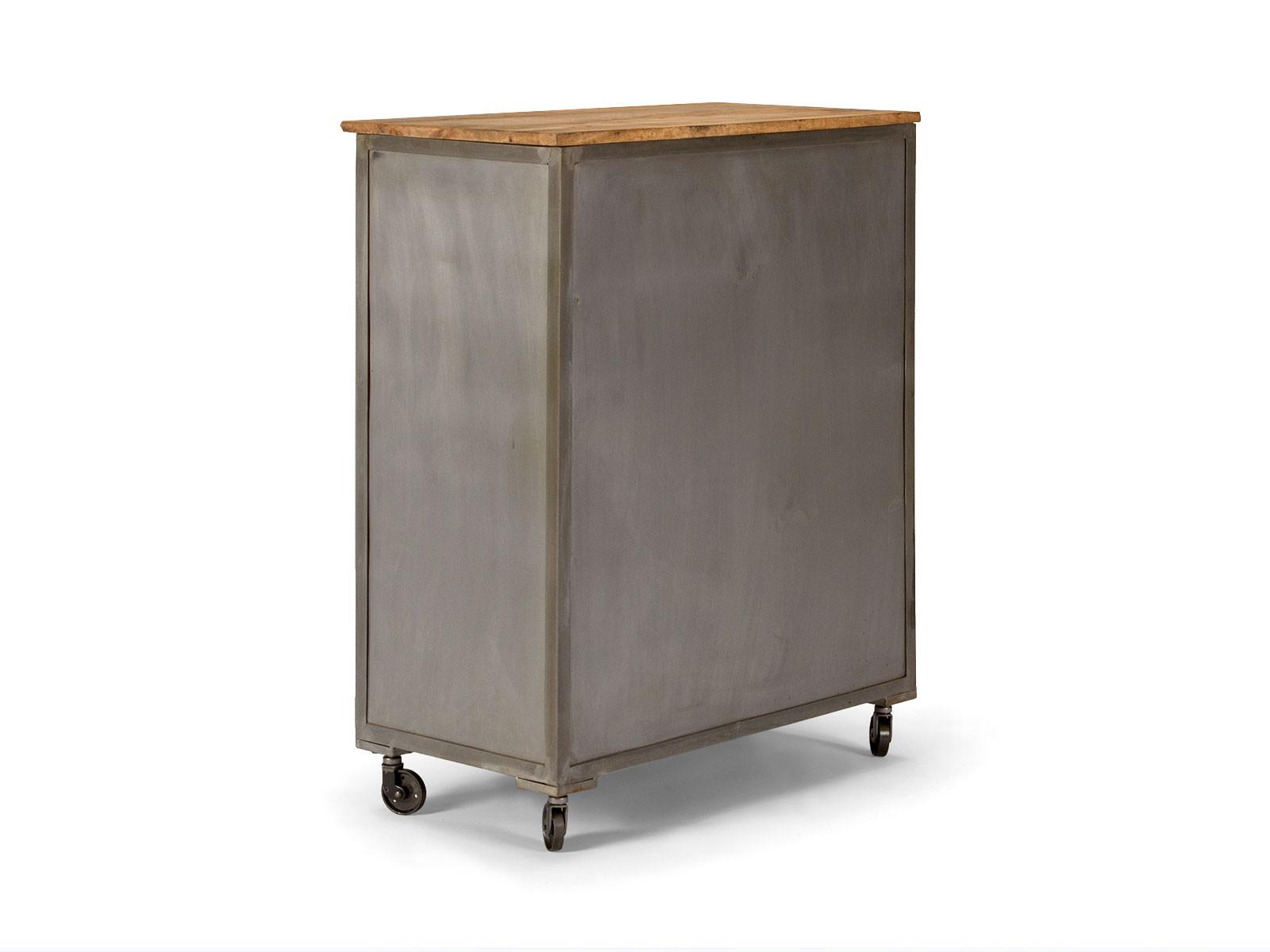 massivholz kommode mit schubladen und rollen versandkostenfreie m bel online. Black Bedroom Furniture Sets. Home Design Ideas
