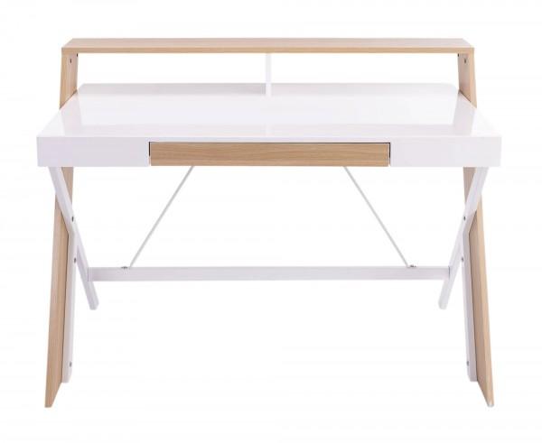 Schreibtisch weiß Hochglanz - Skandinavischer Look