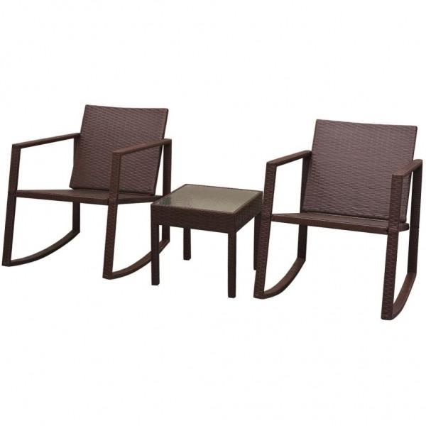 Garten-Schaukelstühle mit Tisch Set