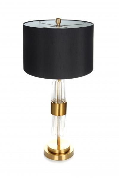 Tisch- / Stehlampe Plasma 110 Schwarz / Gold / Weiß