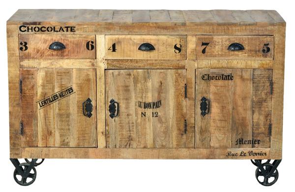 Industrial Mobel Sideboard Kommode Aus Massivholz Moebeldeal Com