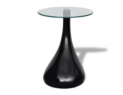 2 x Design Couchtisch LOUNGE TEAR schwarz Beistelltisch Glas