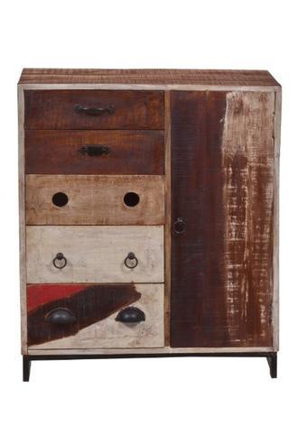 massivholz kommode shabby chic look mit schubladen versandkostenfreie m bel. Black Bedroom Furniture Sets. Home Design Ideas
