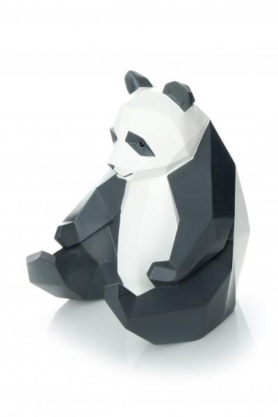 Skulptur Panda 110 Weiß / Schwarz